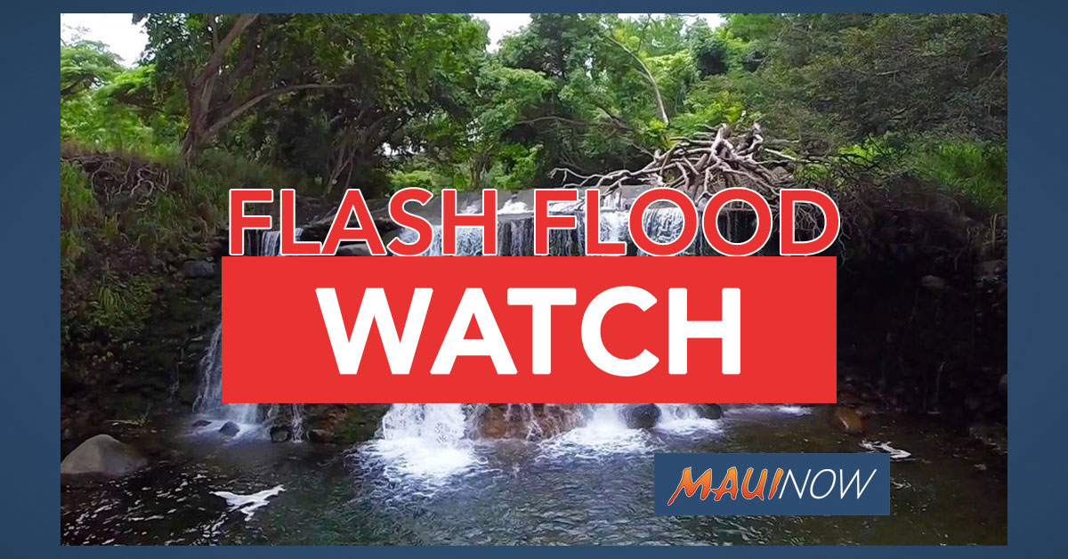 Threat of Extensive Rainfall Prompts Statewide Flash Flood Watch