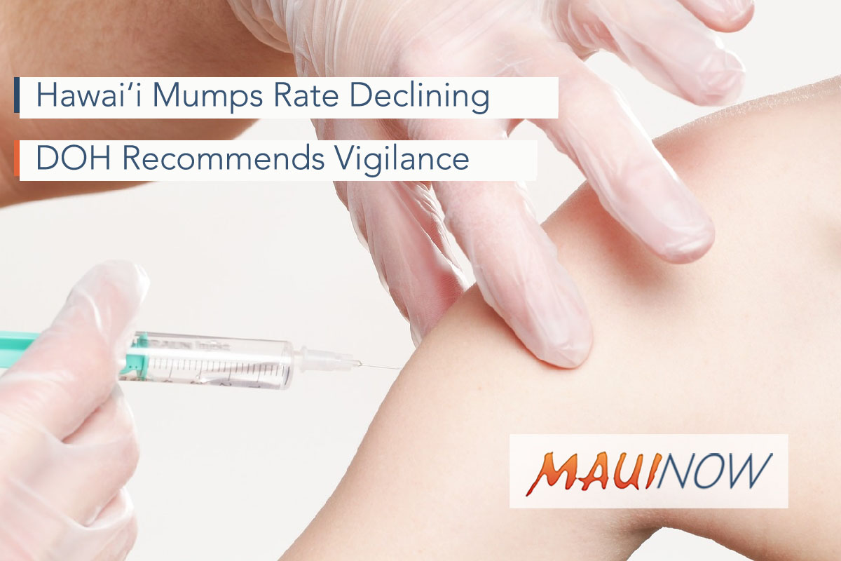 Hawai'i Mumps Rate Declining After Initial 2017 Outbreak