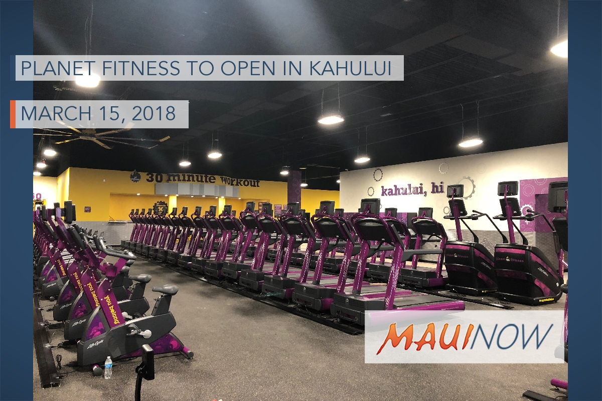 Planet Fitness to Open This Week in Kahului