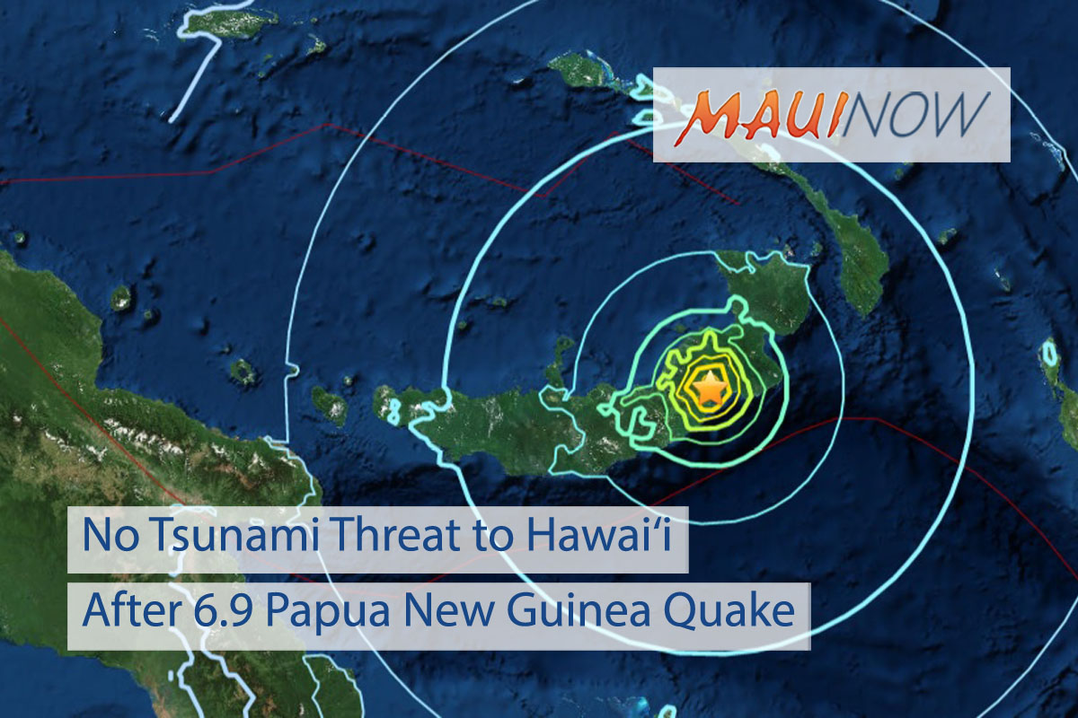 No Tsunami Threat to Hawai'i after 6.9 Papua New Guinea Quake