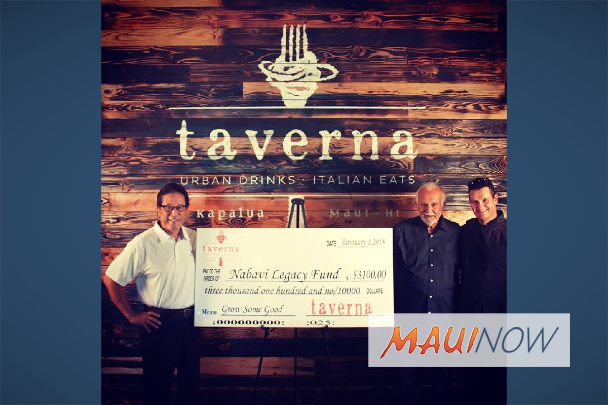 Taverna Donates to Maui Youth Programs