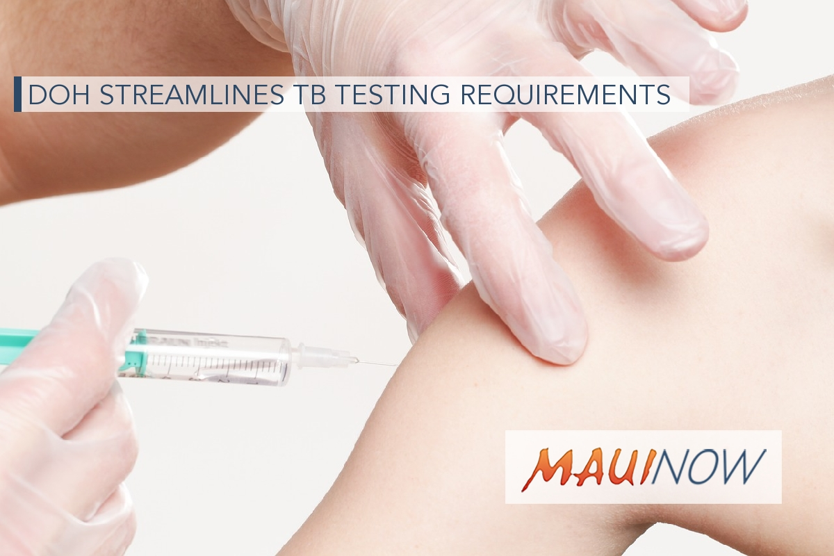 DOH Streamlines TB Testing Requirements