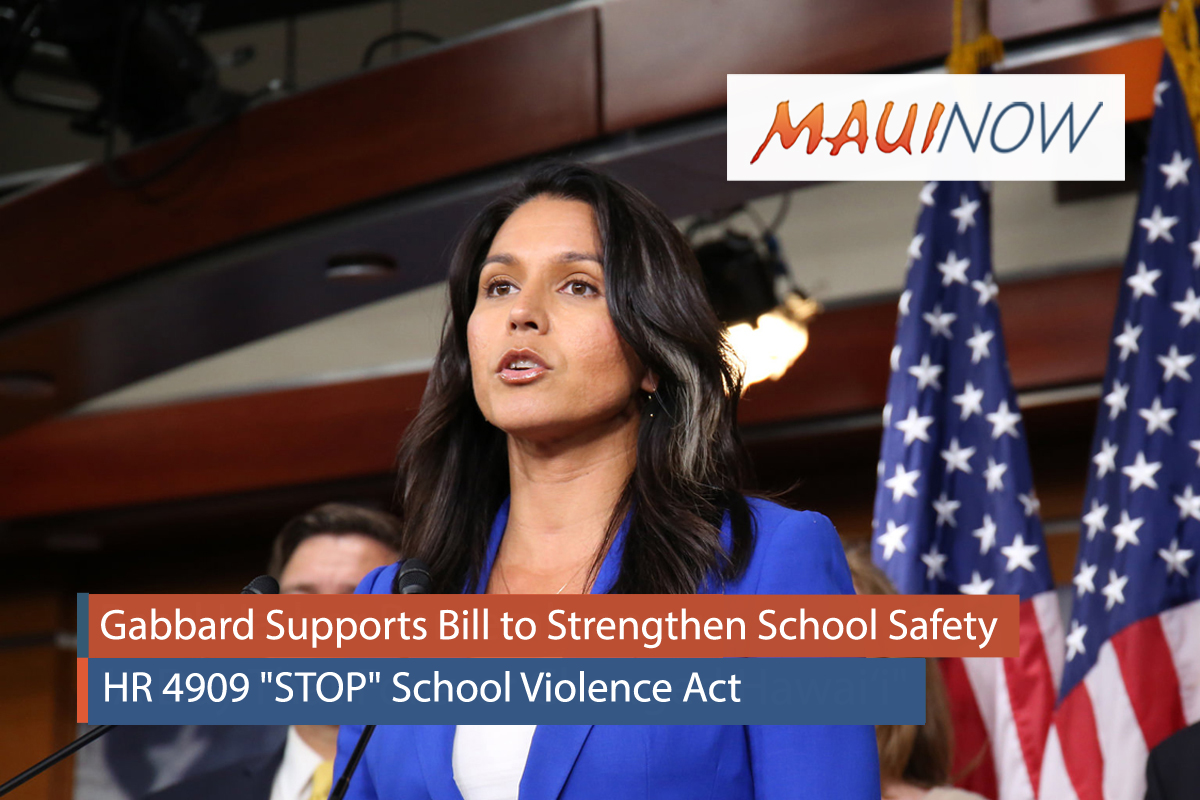 Gabbard Supports Bill to Strengthen School Safety