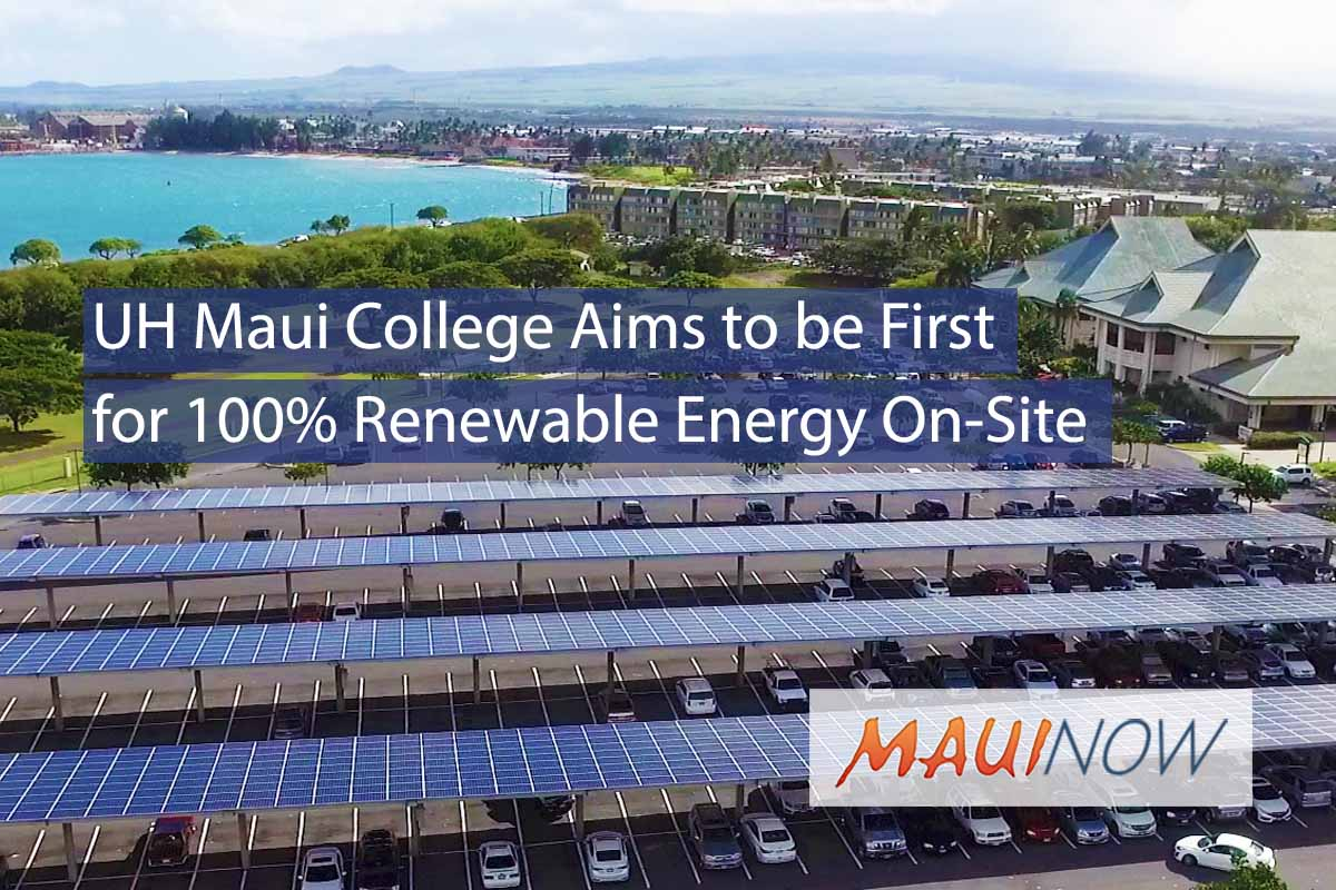 UH Maui College Aims to be First for 100% Renewable Energy On-Site