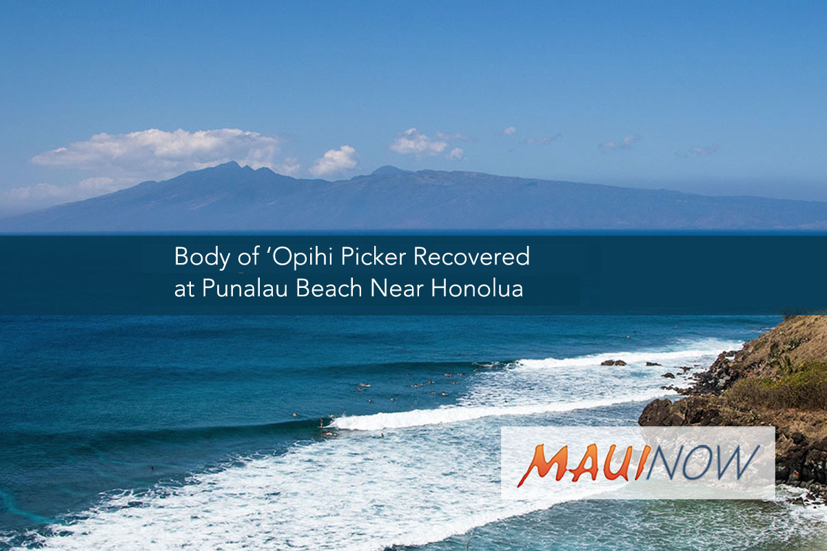 Body of 'Opihi Picker Recovered off West Maui