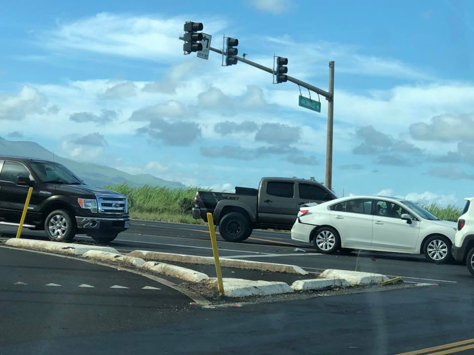 Traffic Advisory: Haleakalā Hwy at Hāliʻimaile Rd Accident