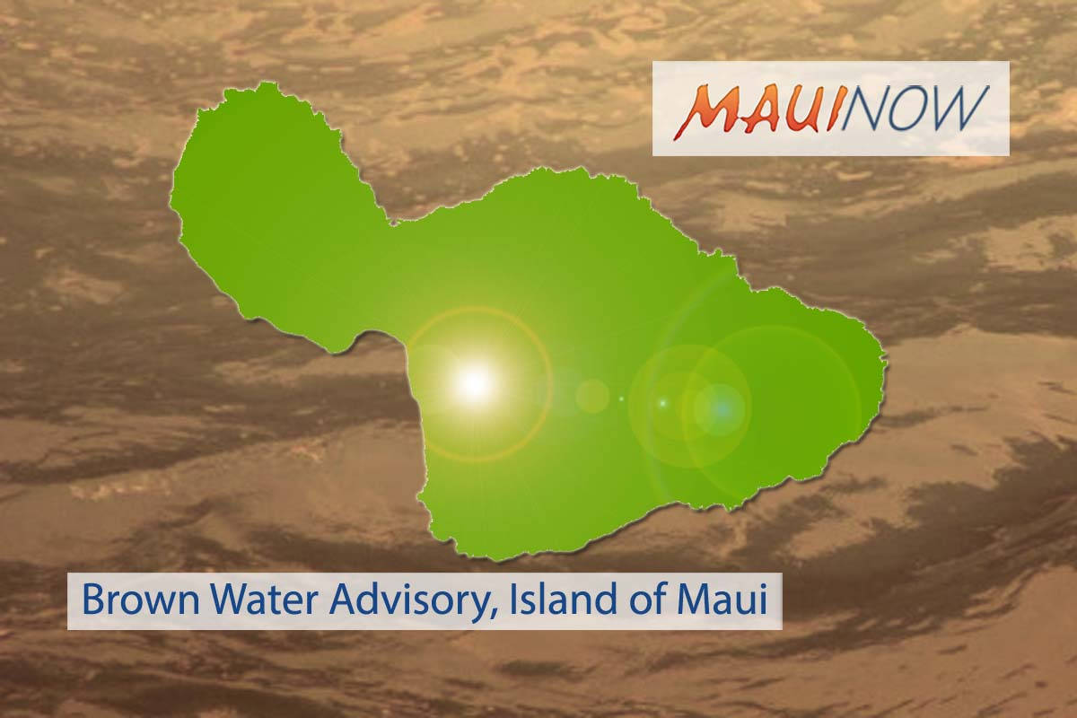Maui Island Under Brown Water Advisory