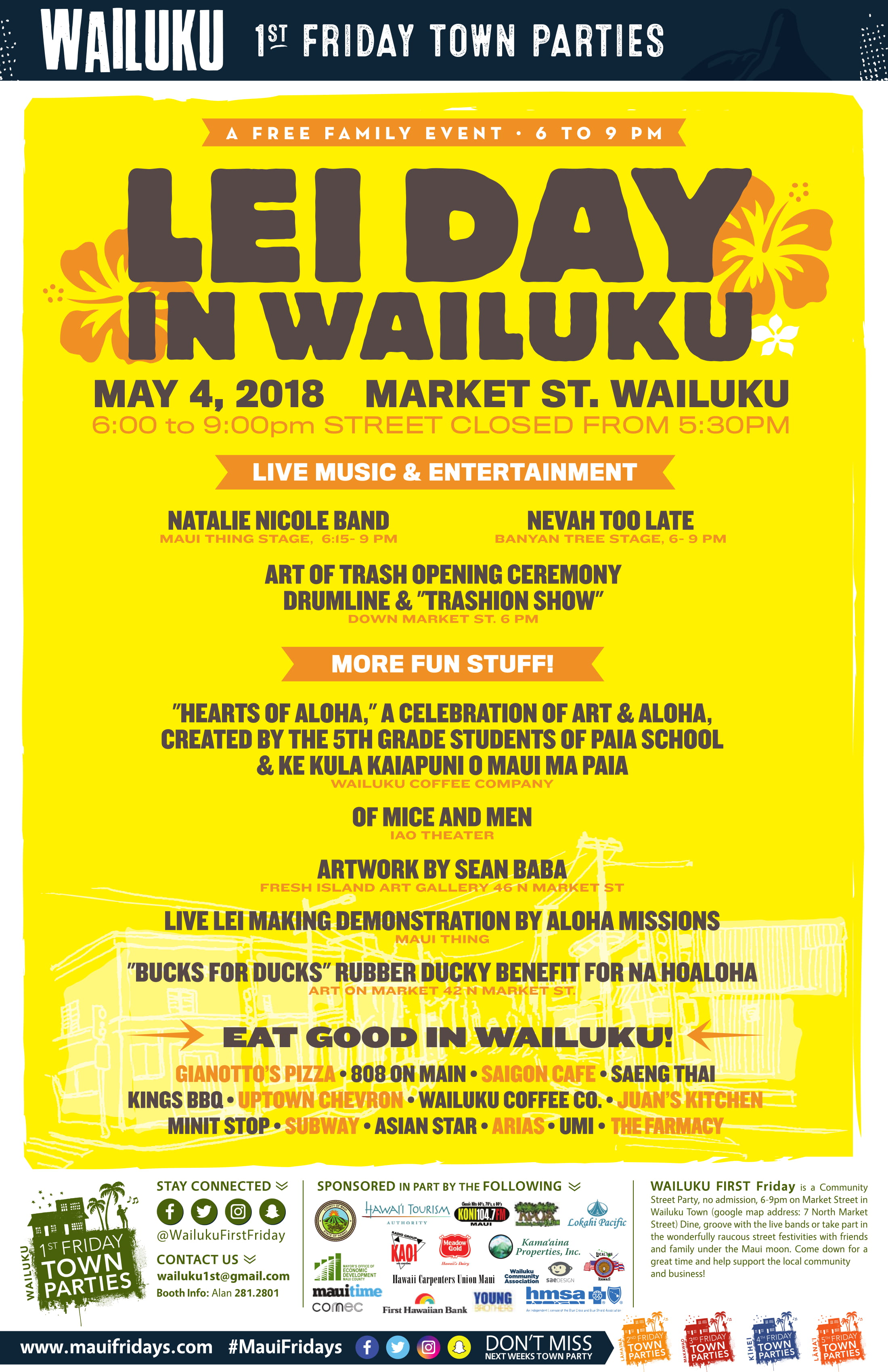 Wailuku First Friday Lineup Announced