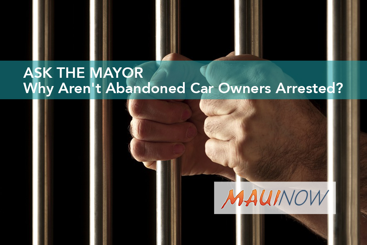 Ask the Mayor: Why Aren't Abandoned Car Owners Arrested?