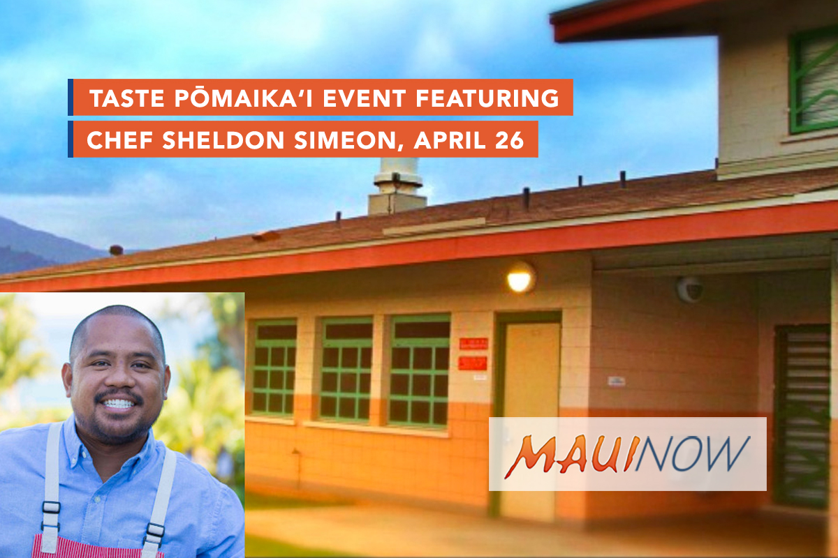 Taste Pōmaikaʻi Event Featuring Chef Sheldon Simeon, April 26