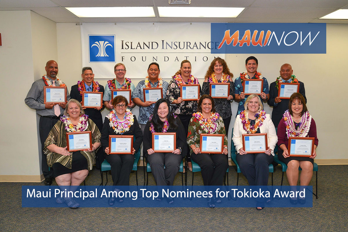 Maui Principal Among Top Nominees for Tokioka Award