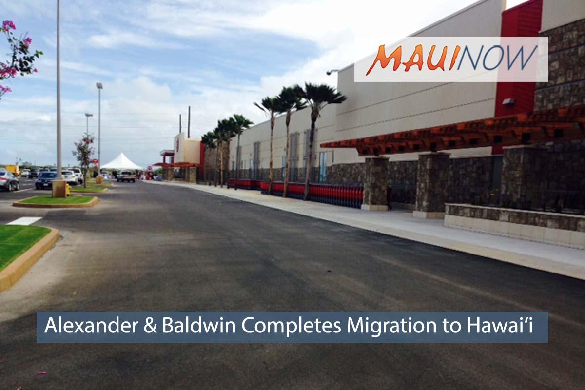 Alexander & Baldwin Completes Migration to Hawai'i