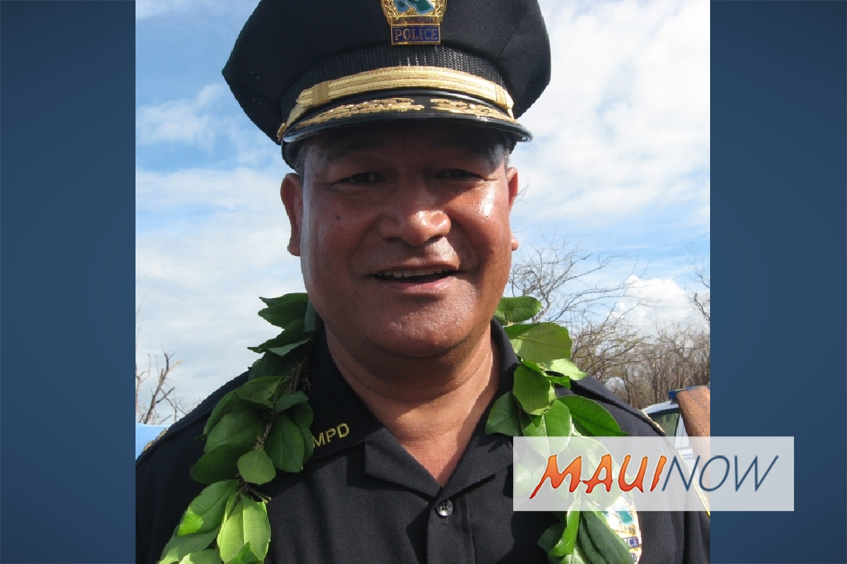 Maui Police Chief Continues to Receive High Marks in Evaluation