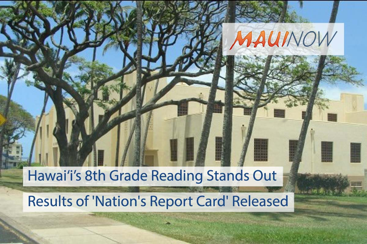 Hawai'i's 8th Grade Reading Stands Out in 'Nation's Report Card'