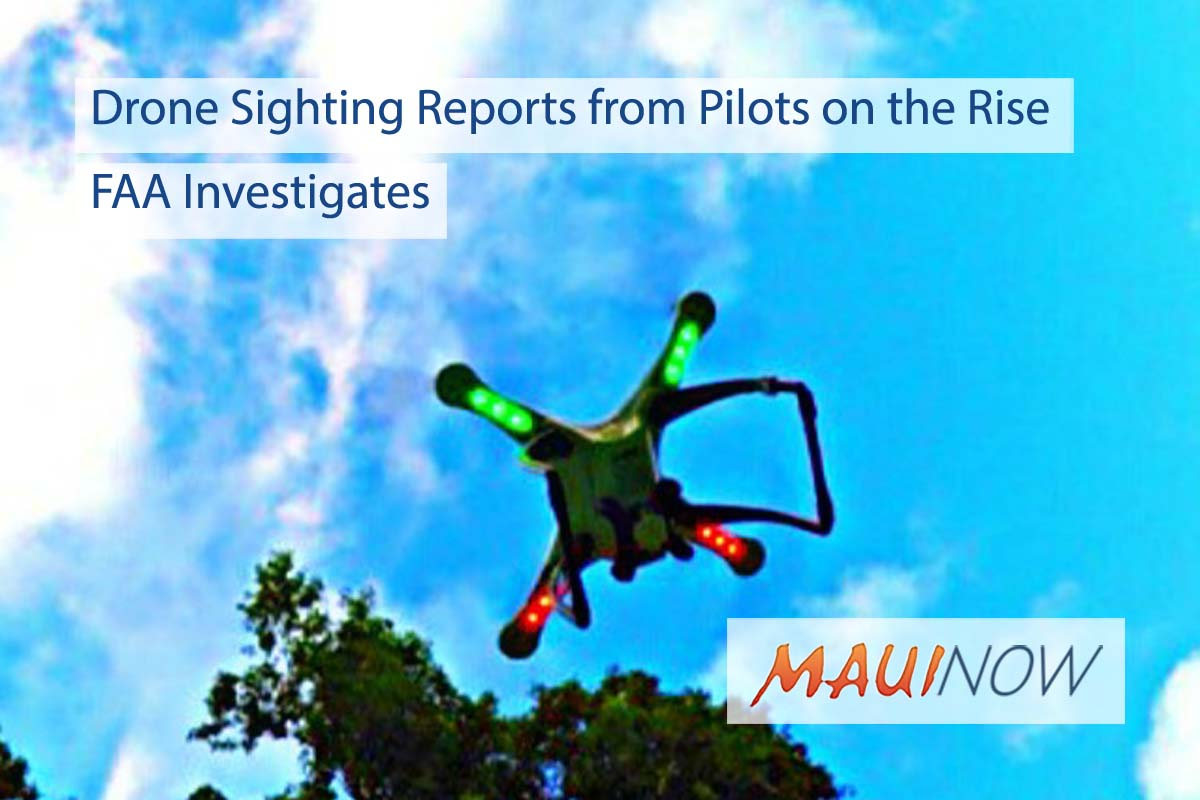 Drone Sighting Reports from Pilots on the Rise, FAA Investigates