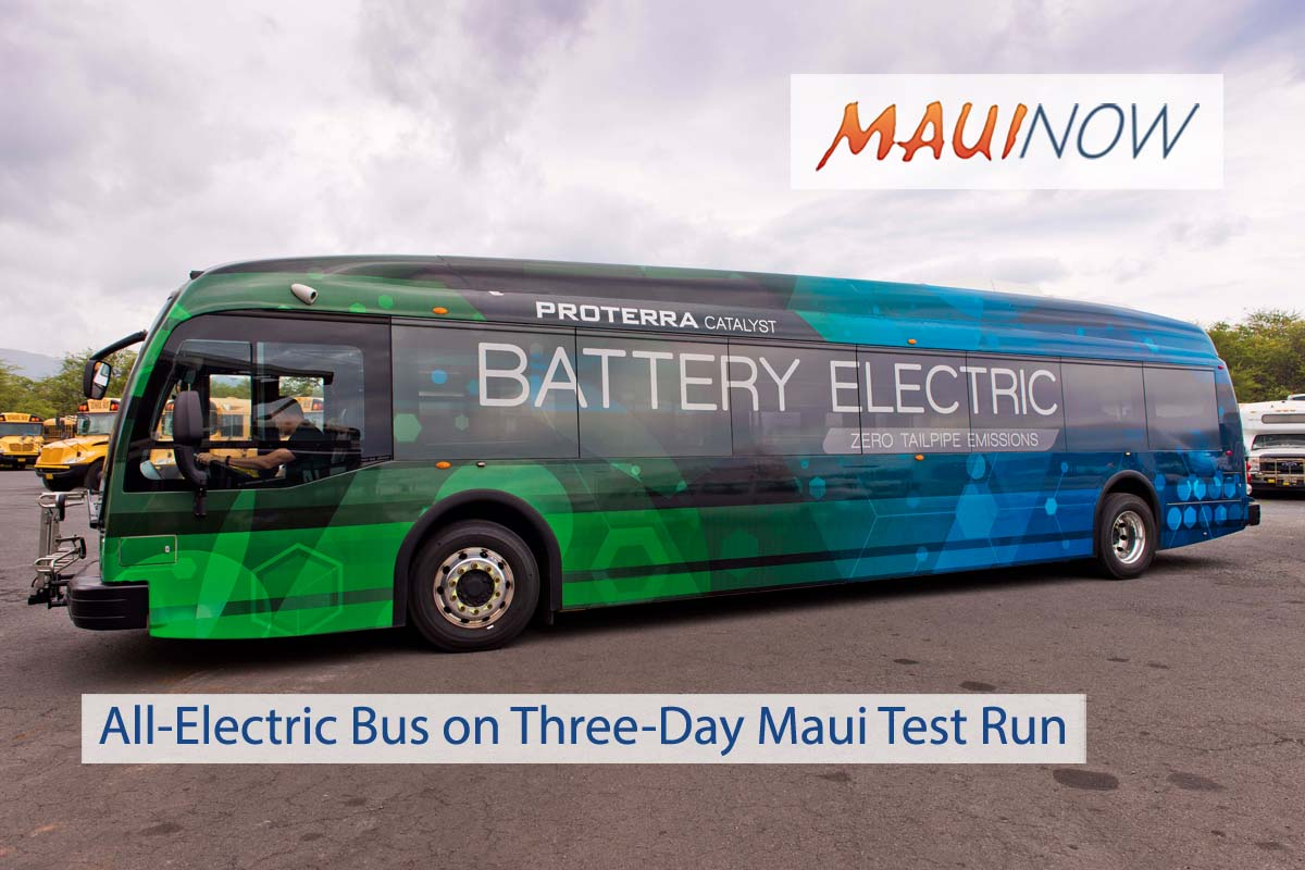 All-Electric Bus on Three-Day Maui Test Run