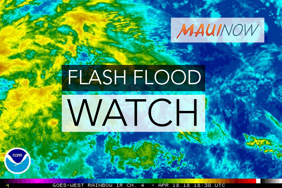 Flash Flood Watch Issued for Maui County
