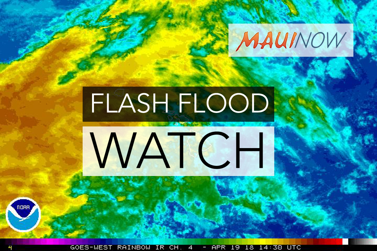 Maui Flood Watch Through Saturday Night