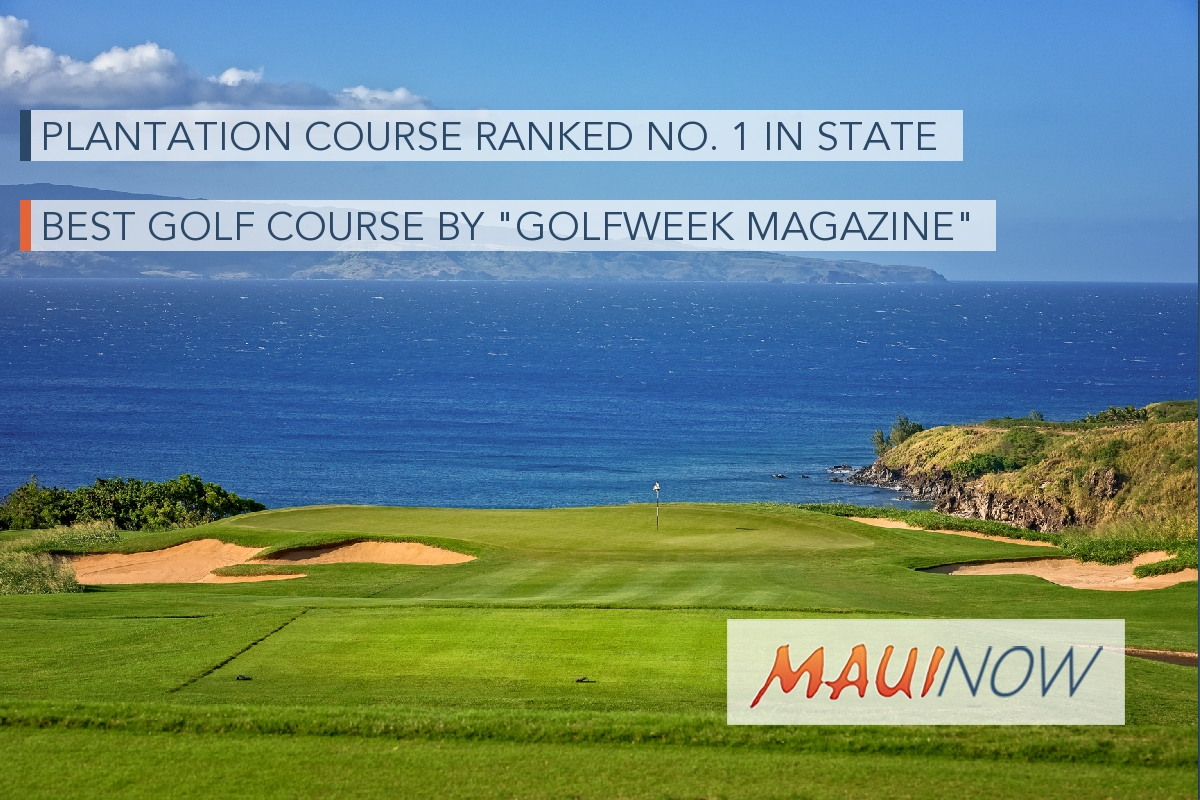 Plantation Course Ranks No. 1 in Hawaiʻi