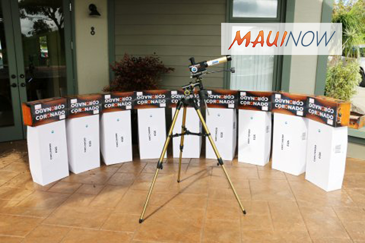 Musician Sting and NSF Donate Solar Telescopes to Maui Schools