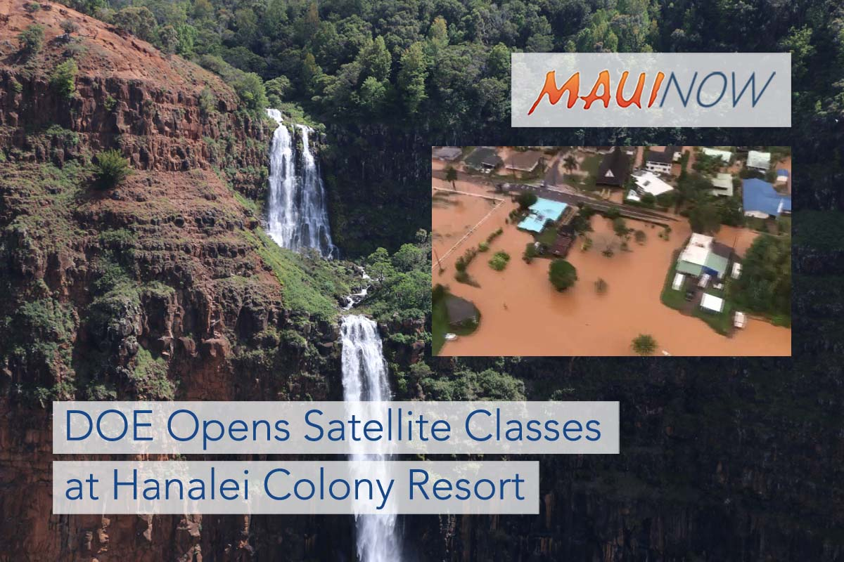 DOE Opens Satellite Classes at Hanalei Colony Resort