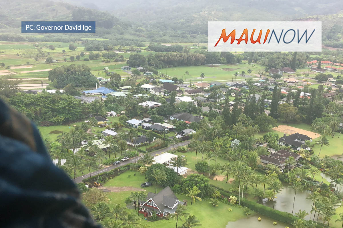 Ige Asks FEMA to Re-consider Flood Request for Kaua'i, O'ahu