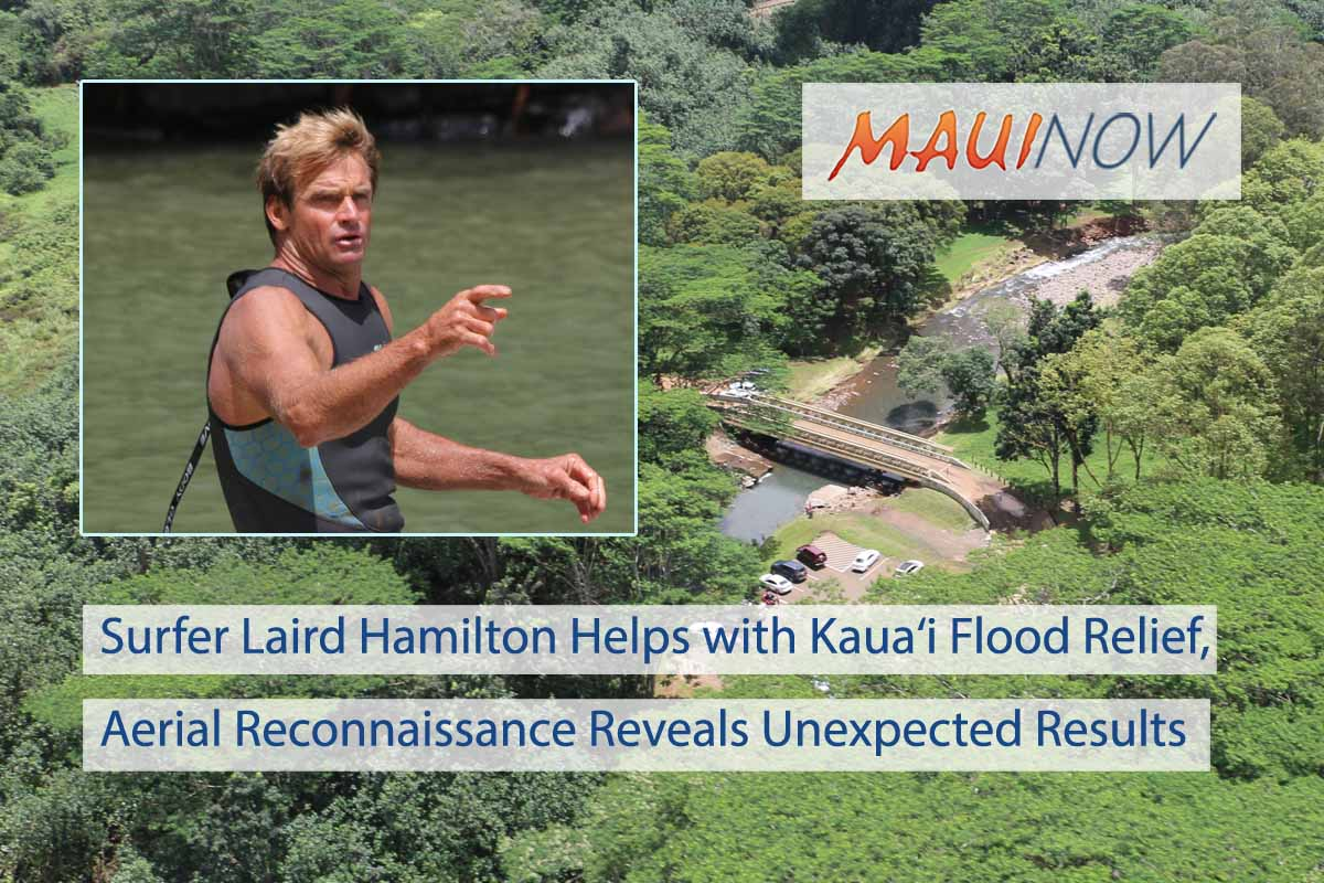 Big Wave Surfer Helps with Kaua'i Flood Relief, Aerial Recon Findings Unveiled