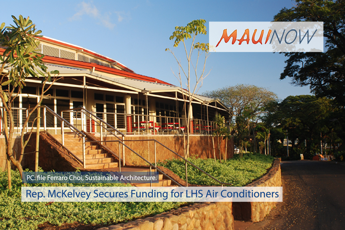 Rep. McKelvey Secures Funding for Lahainaluna Air Conditioners
