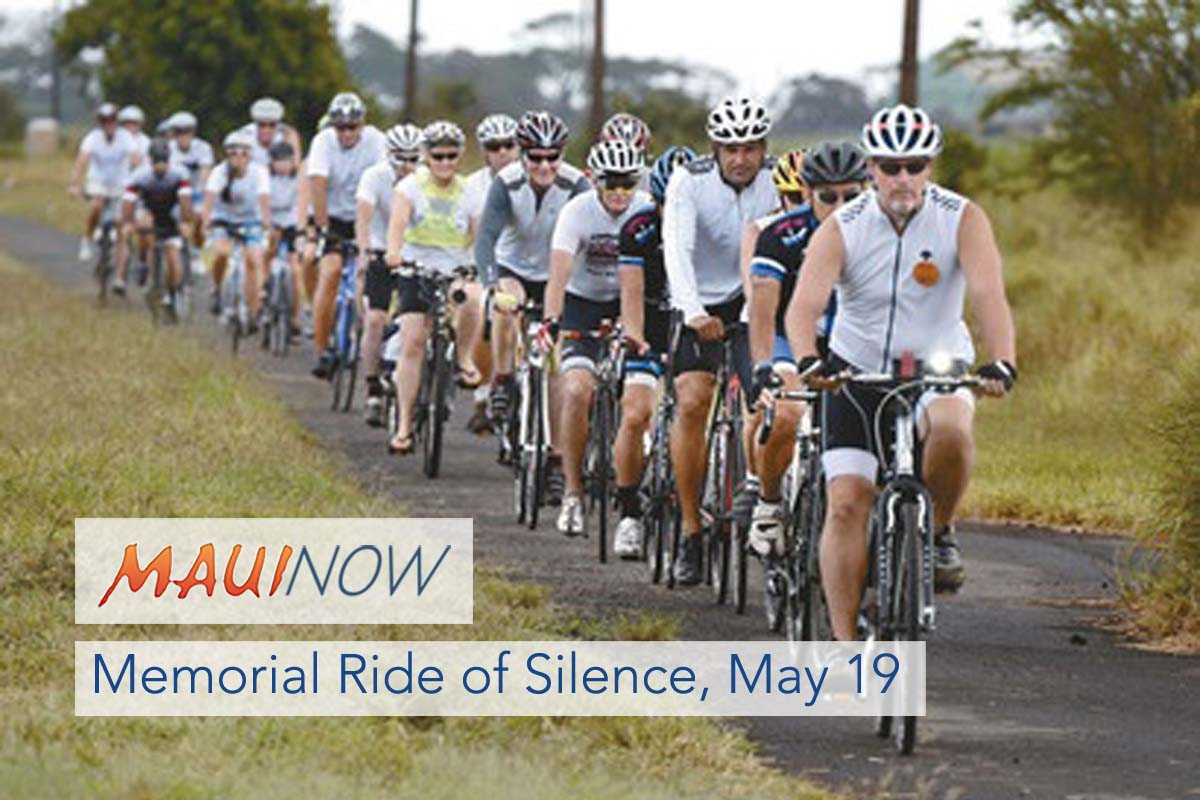 Memorial Ride of Silence on Saturday May 19