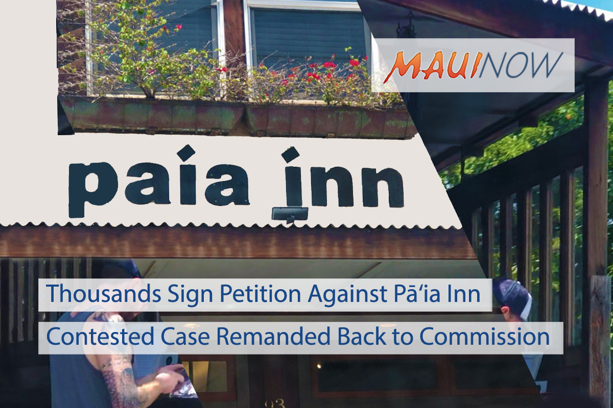 Thousands Sign Petition Against Pā'ia Inn Permit Request