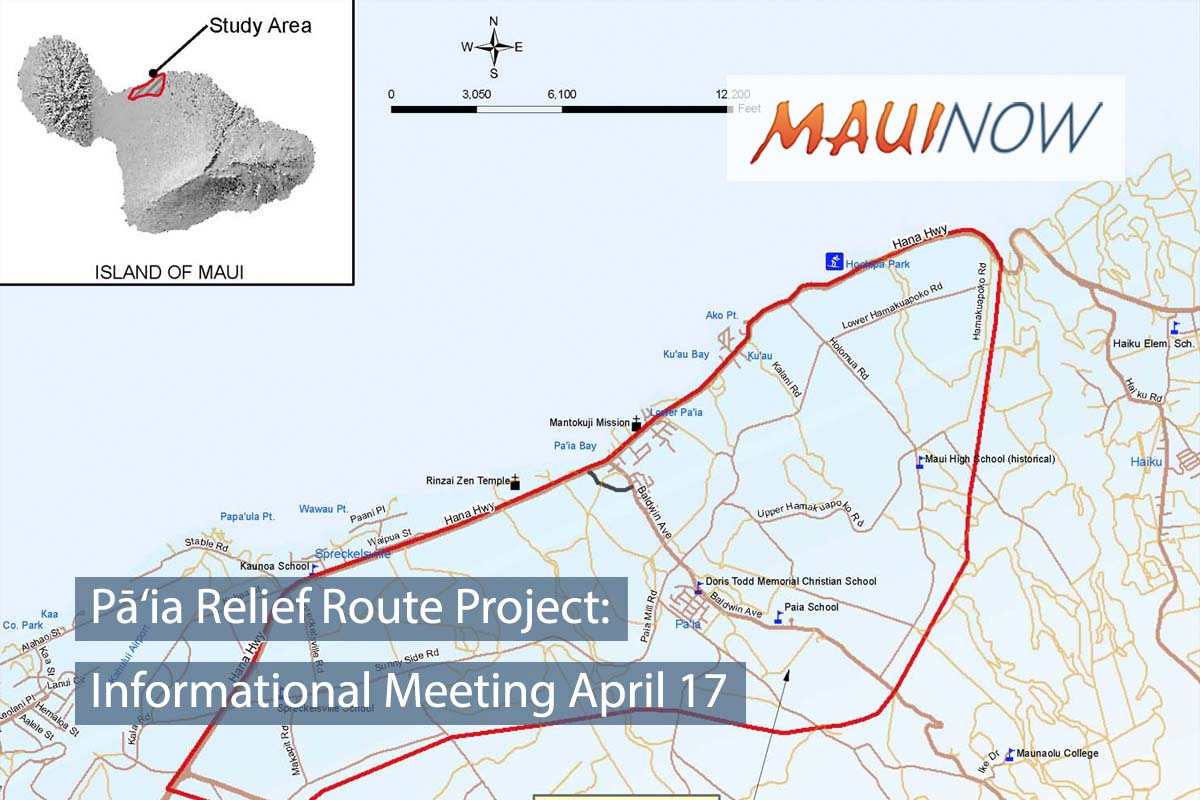 Pā'ia Relief Route Project: Informational Meeting April 17