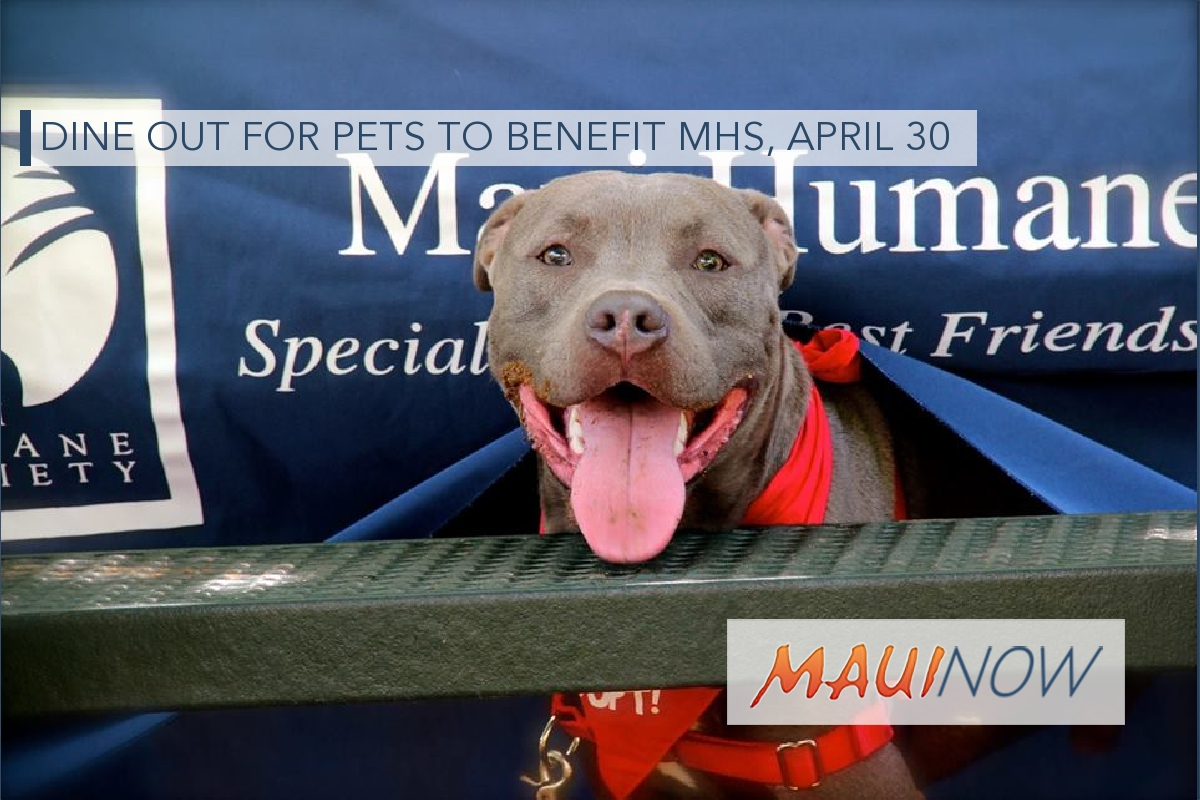 Dine Out for Pets to Benefit MHS, April 30