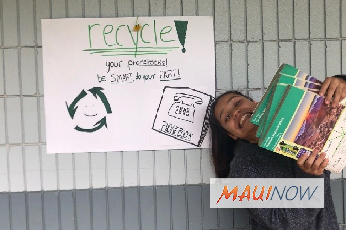 Maui Schools Compete to Recycle Old Phone Books