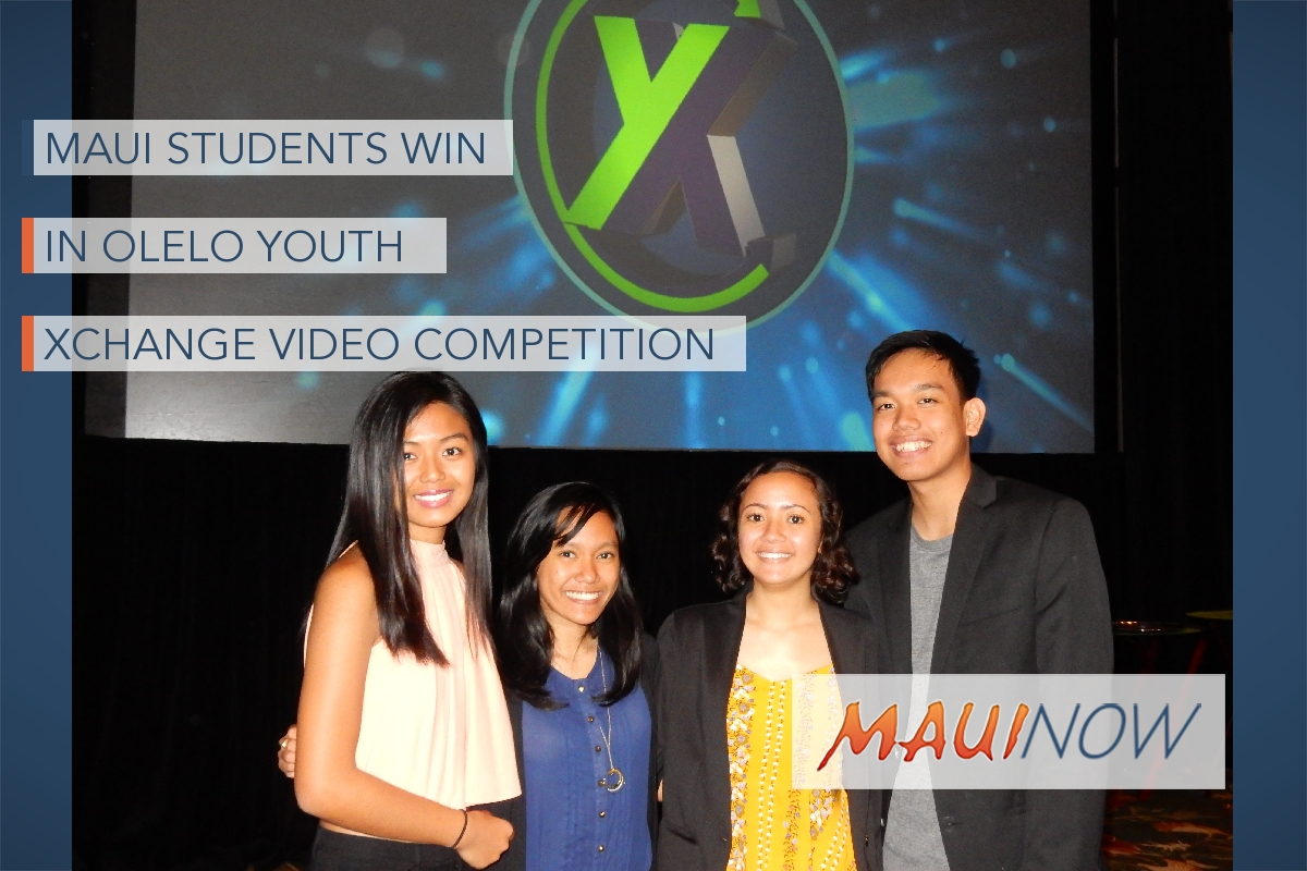Maui Winners Announced in 15th Annual 'Ōlelo Youth Xchange Video Competition