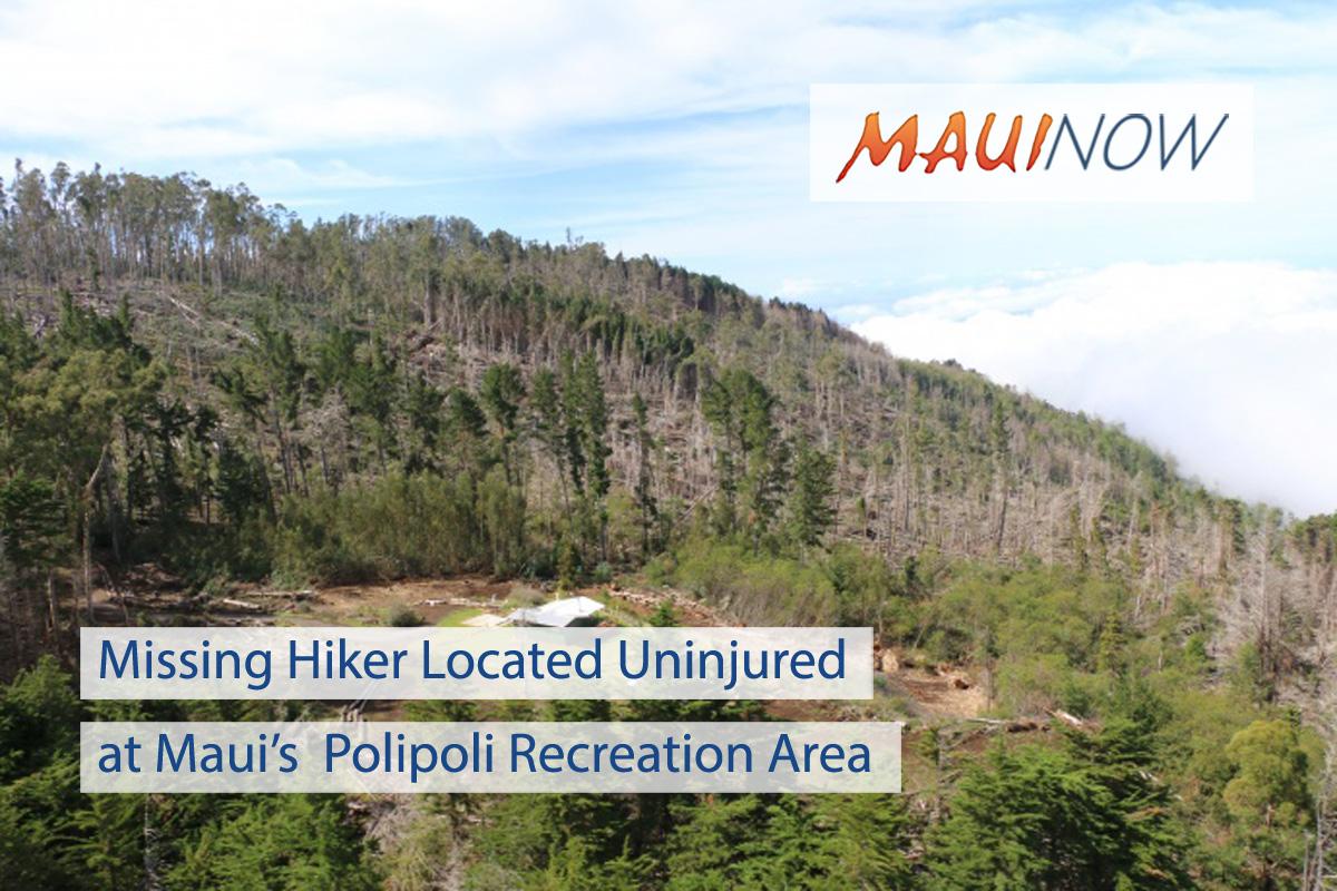 Missing Hiker Located Uninjured at Polipoli Recreation Area