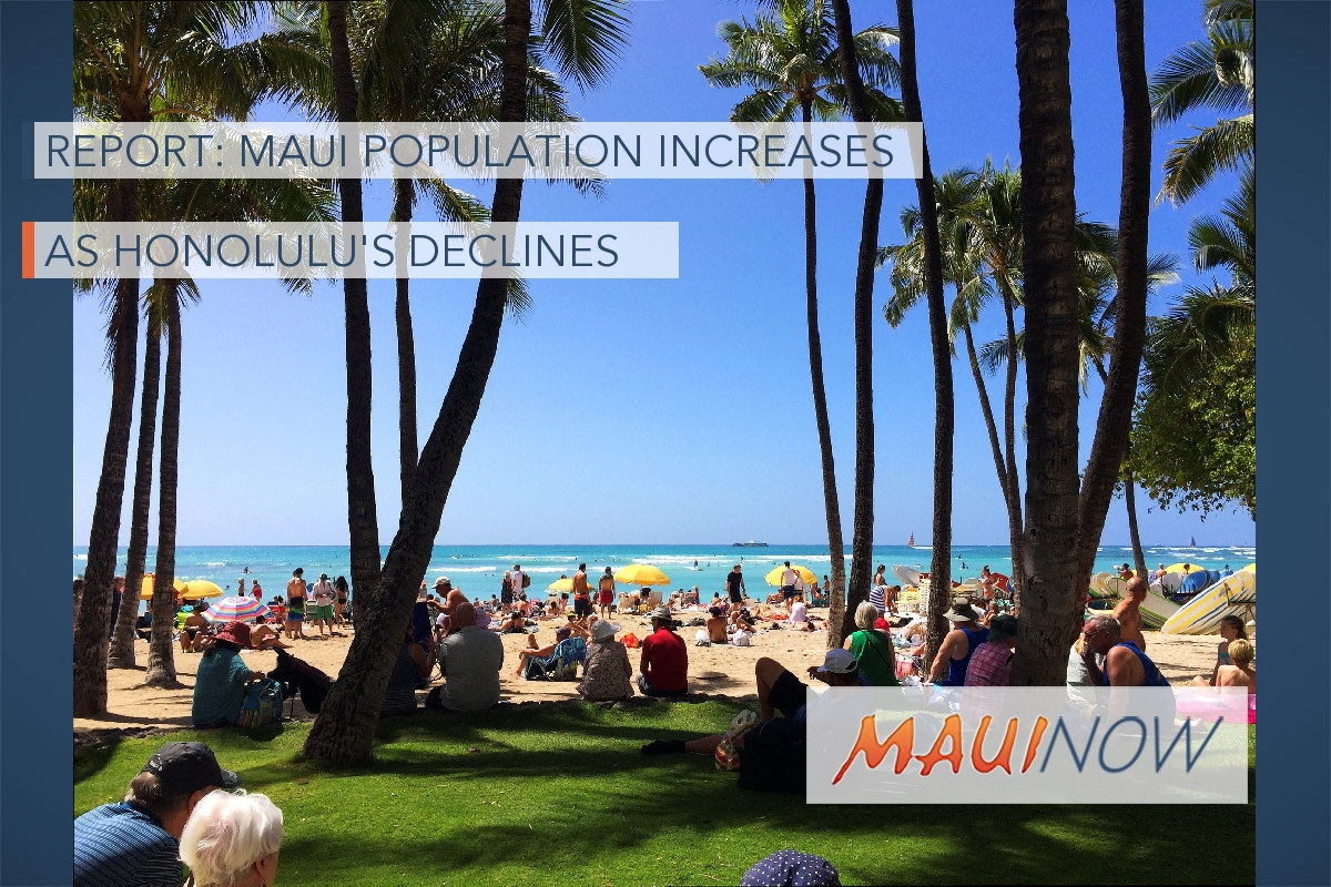 Report: Maui Population Continues to Increase as Honolulu's Declines