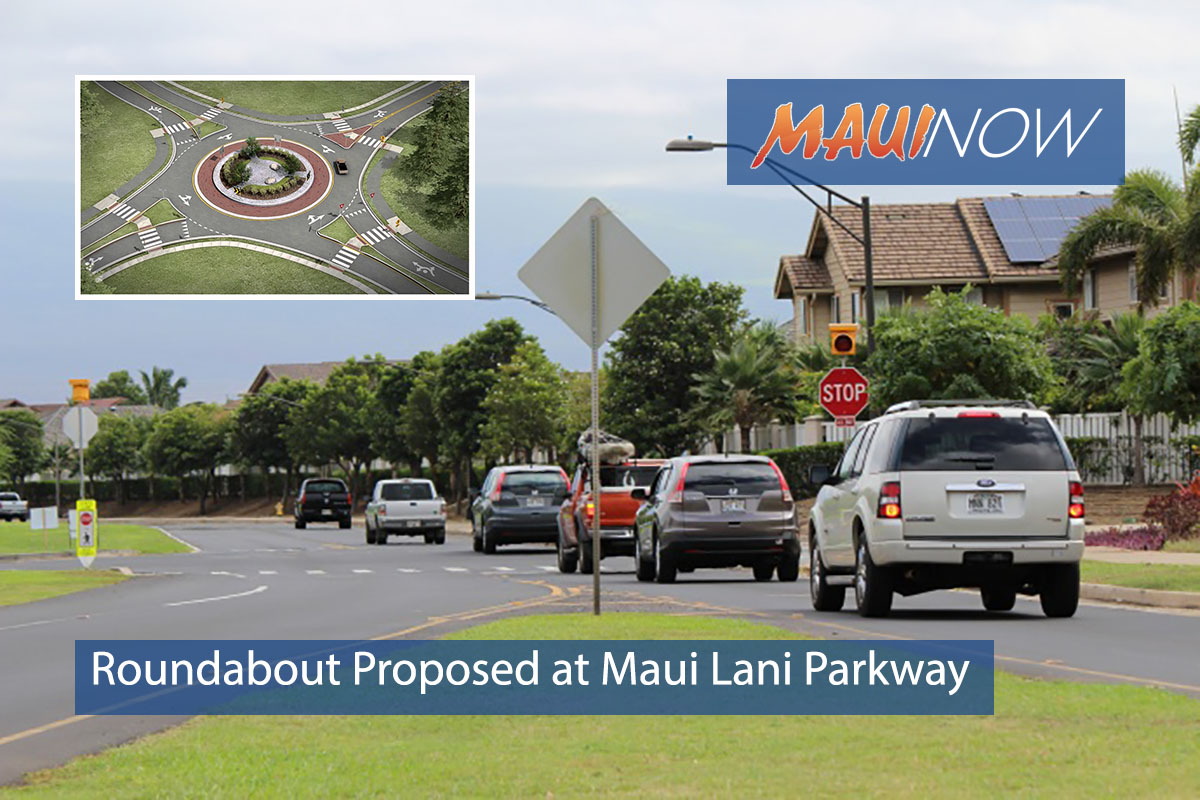 County Proposes Roundabout at Maui Lani Parkway