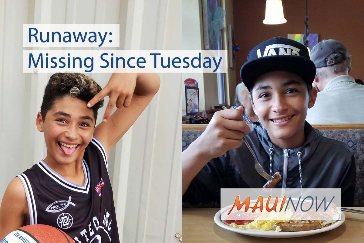 Runaway: Maui Boy Missing Since Tuesday