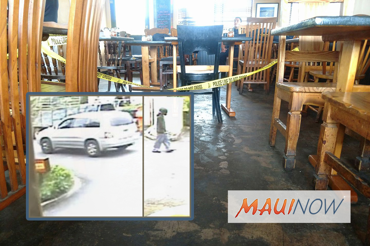 Surveillance Released in Serpico's Pizzeria Maui Armed Robbery