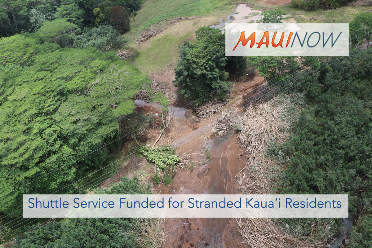 Shuttle Service Funded for Stranded Kaua'i Residents