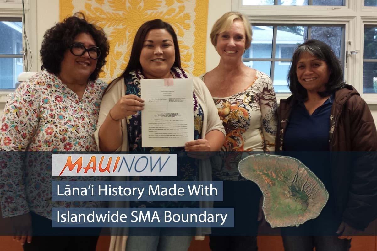 History Made with Islandwide SMA Boundary on Lāna'i