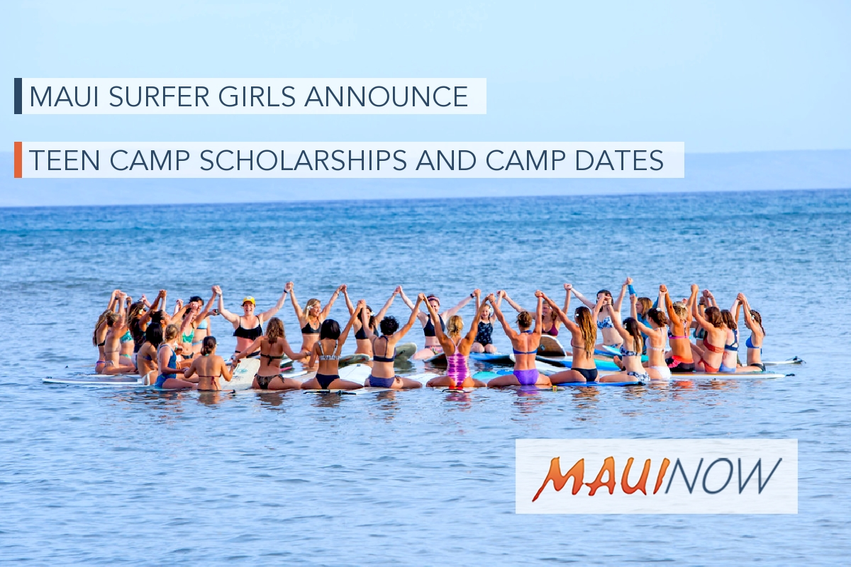 Maui Surfer Girls Announce Teen Camp Scholarships and Camp Dates