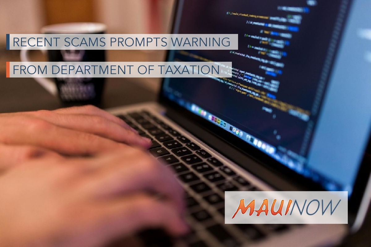 Recent Scams Prompts Warning from Department of Taxation