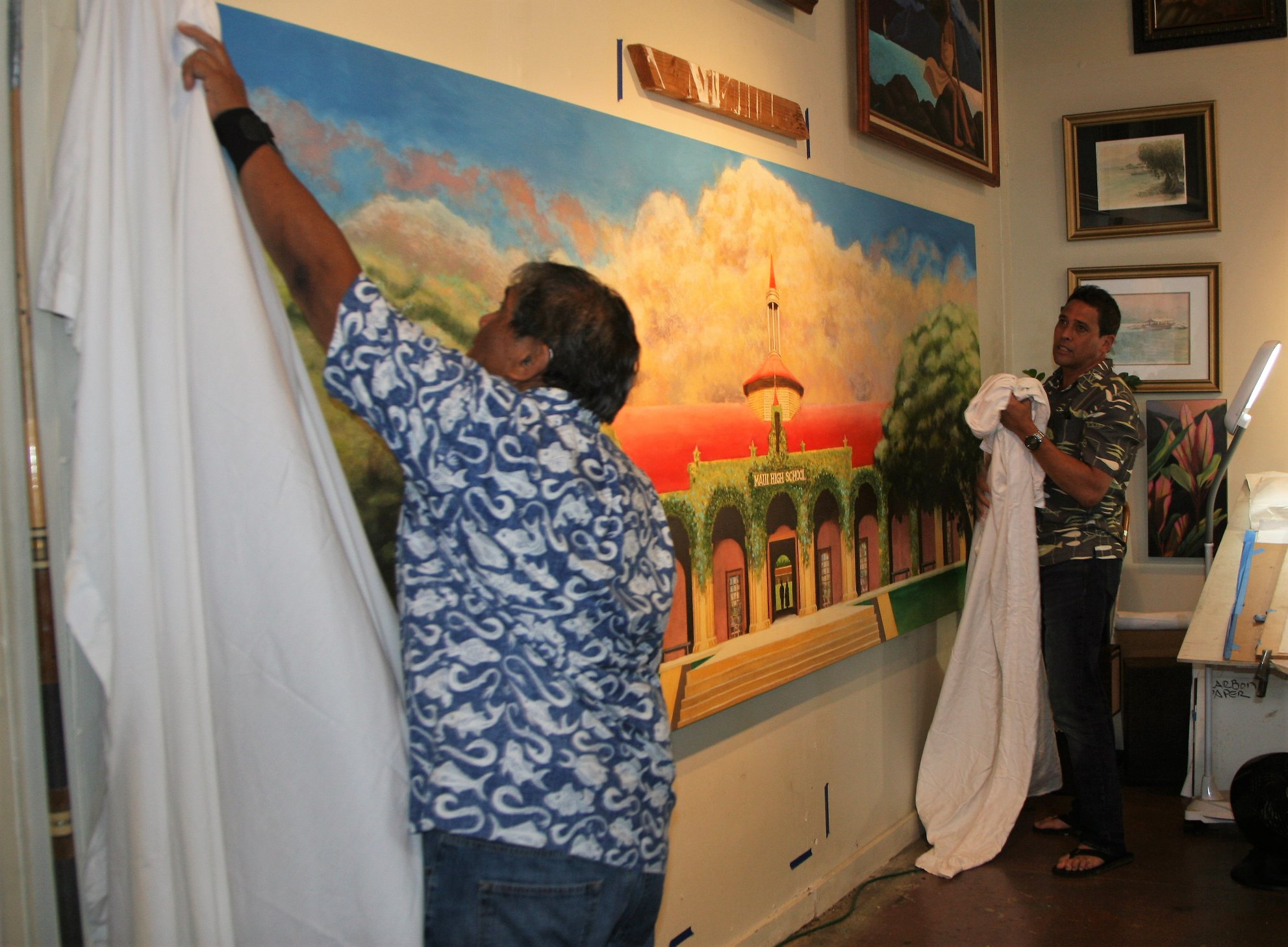 Mural of Old Maui High School to be Unveiled