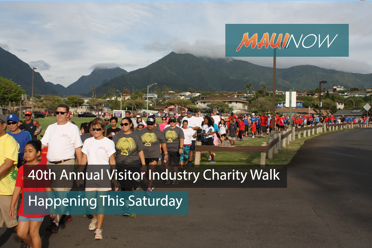40th Annual Visitor Industry Charity Walk This Saturday
