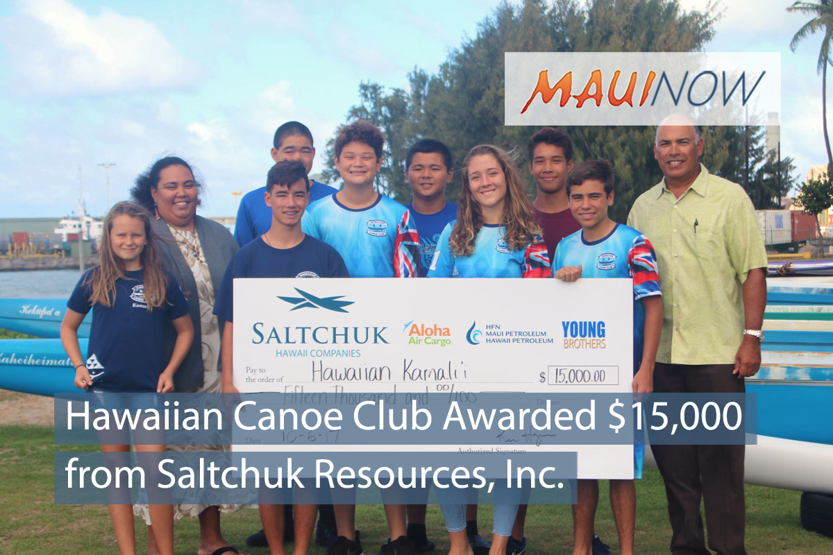 Hawaiian Canoe Club Awarded $15,000 from Saltchuk