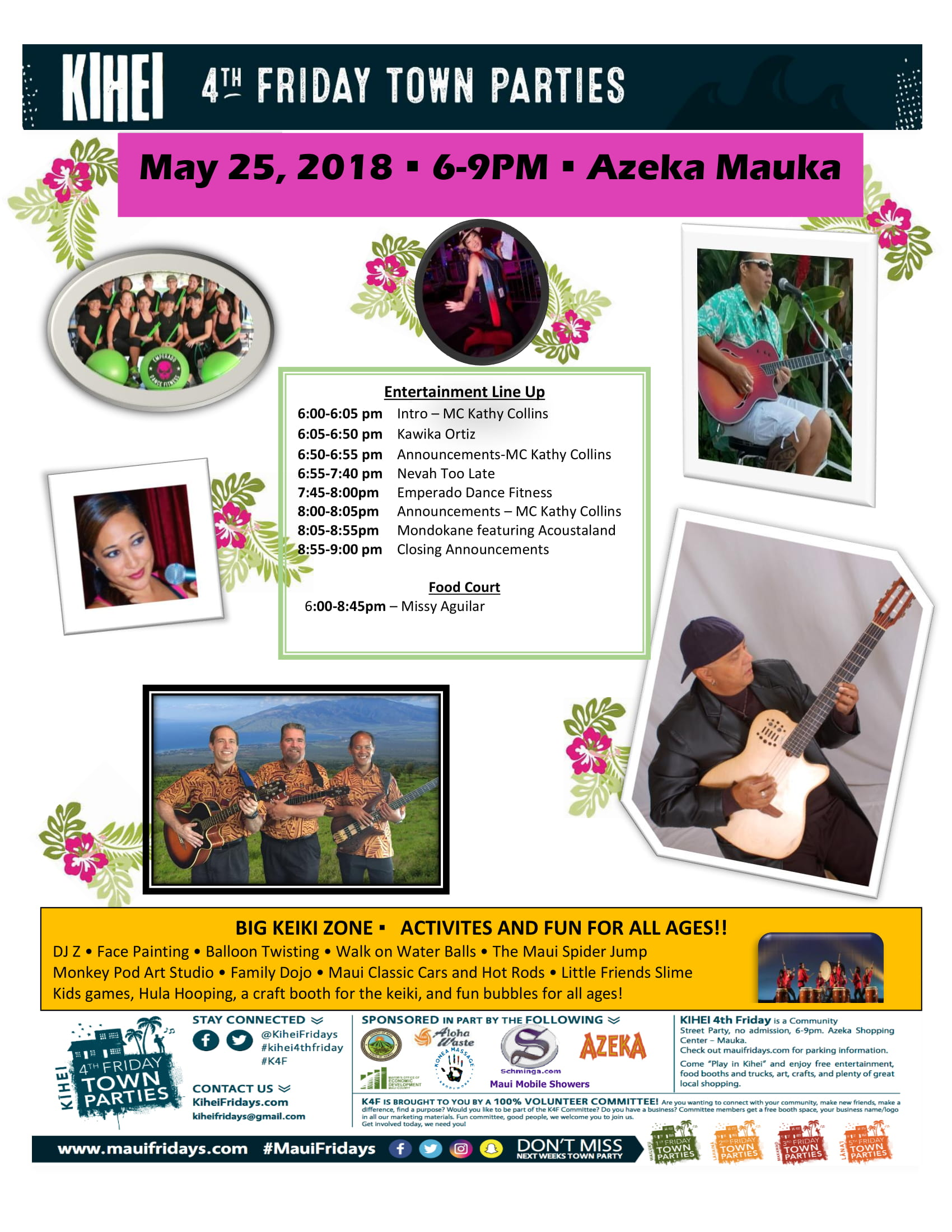 Kihei 4th Friday Announces Live Entertainment