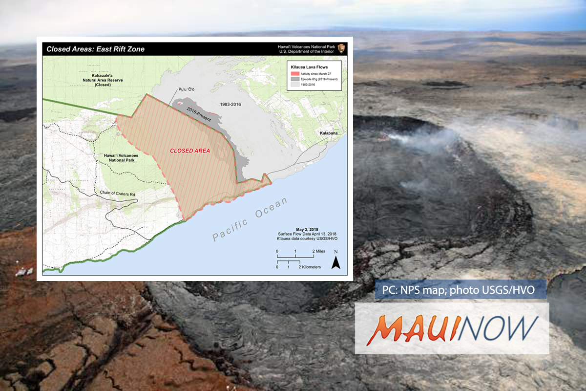 Potential Volcanic Hazards Prompt Closure of 15,688 Acres at Kīlauea