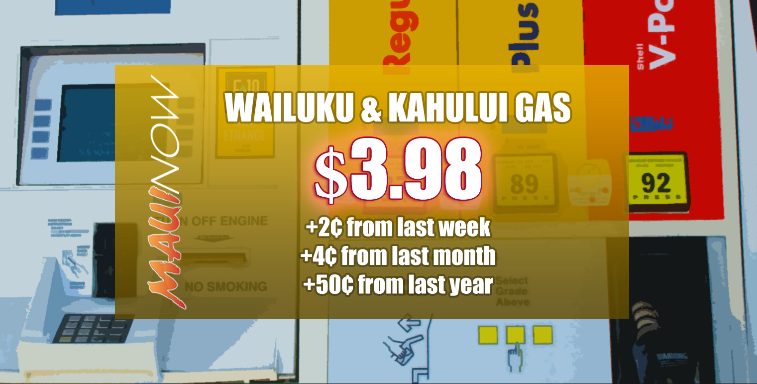 Gas Up 2 Cents on Maui, Increase For Fifth Week