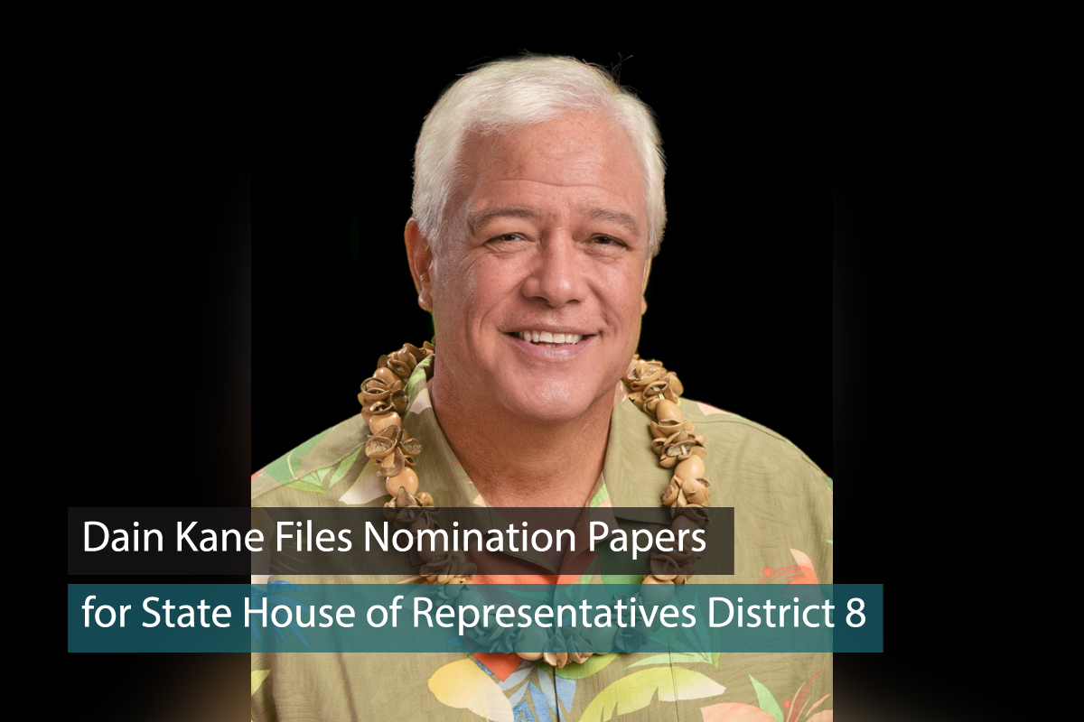 Dain Kane Files For State House District 8 Seat